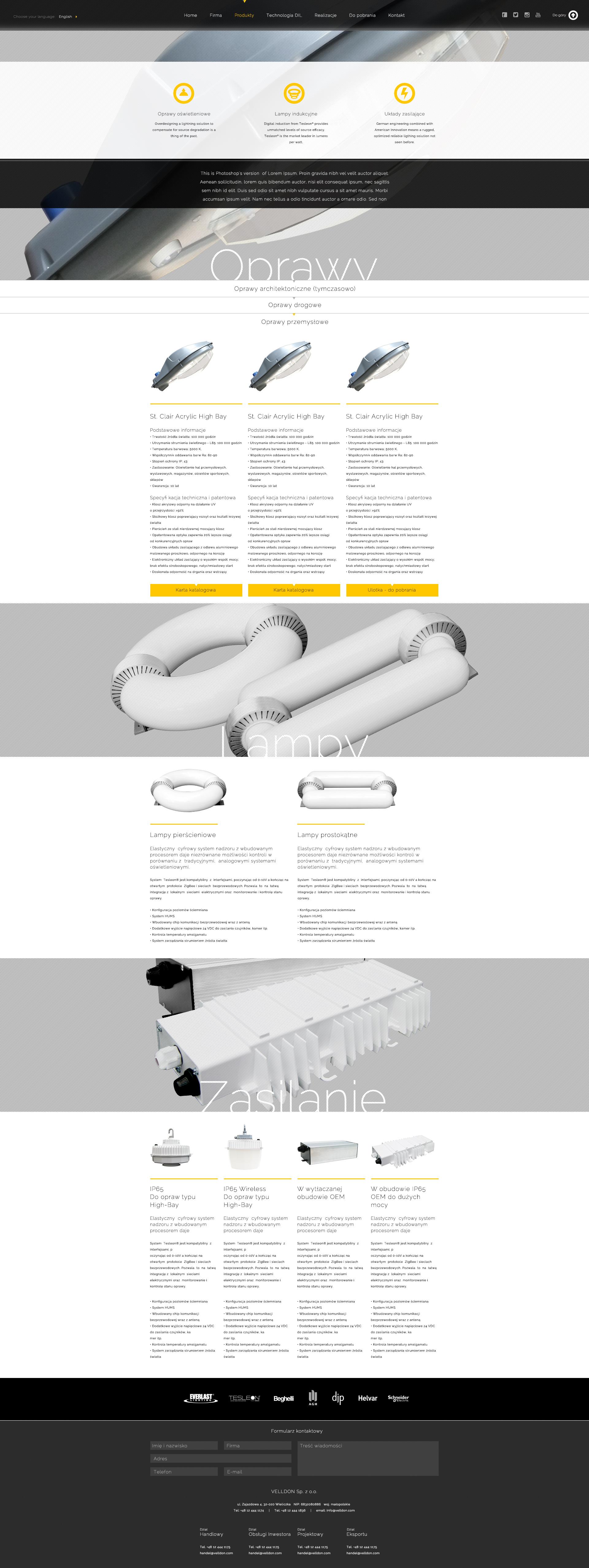 Velldon layout strona produktowa