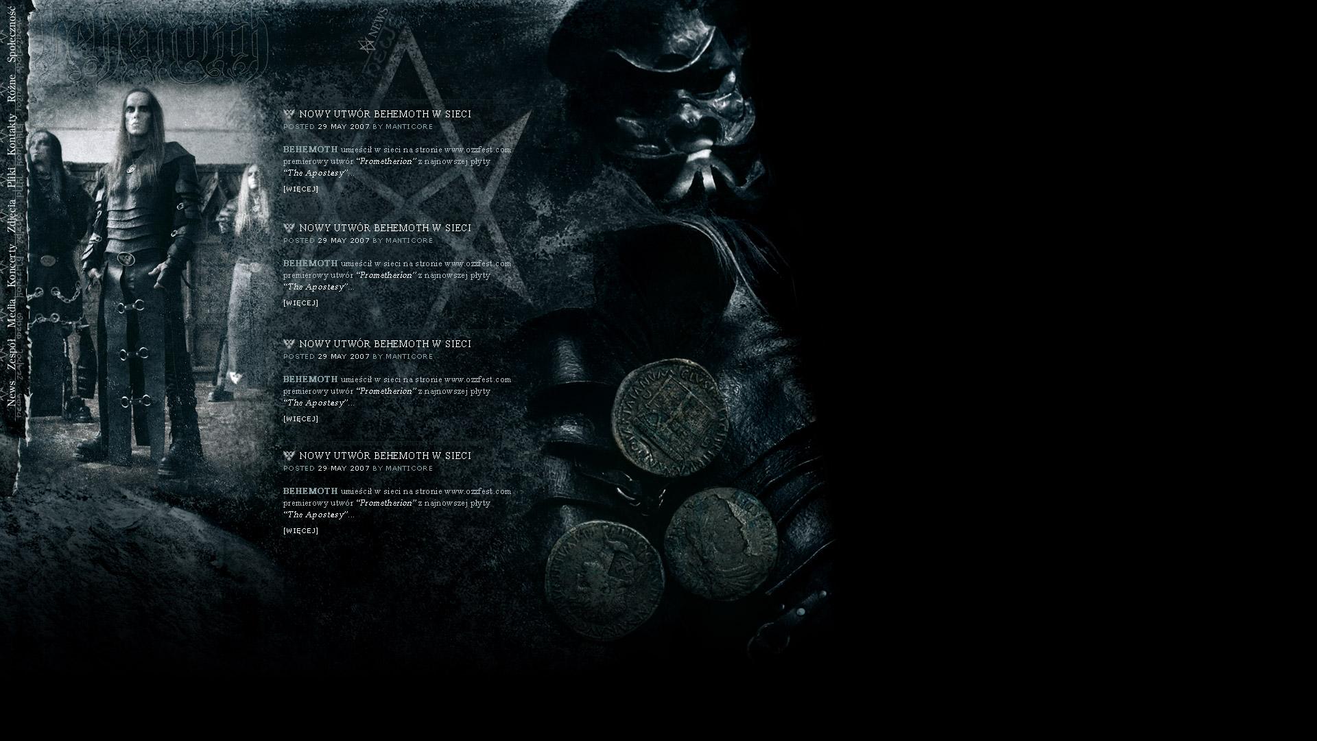 Behemoth - edycja Apostasy (2007)