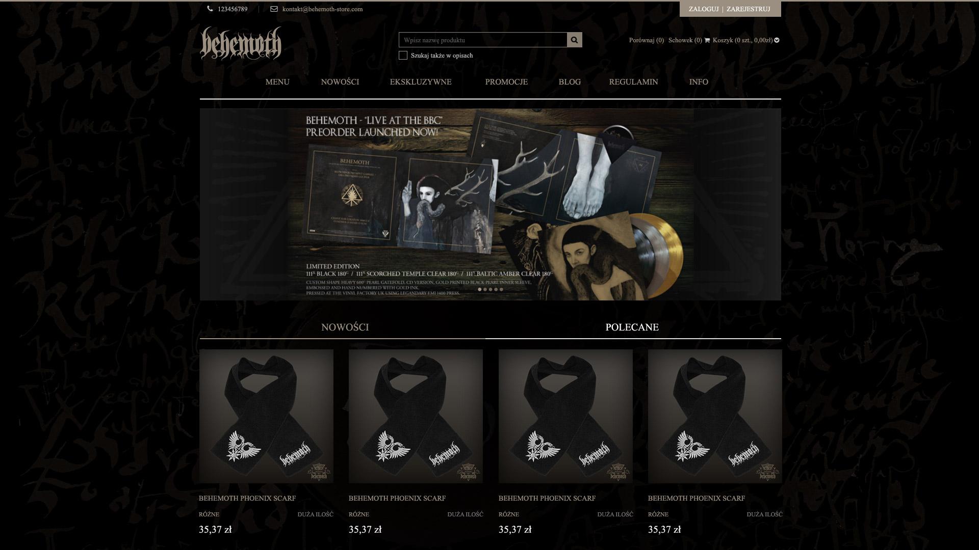 Behemoth store - edycja The Satanist (2014)